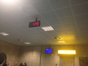 We got to stare at a new clock after we went through security.