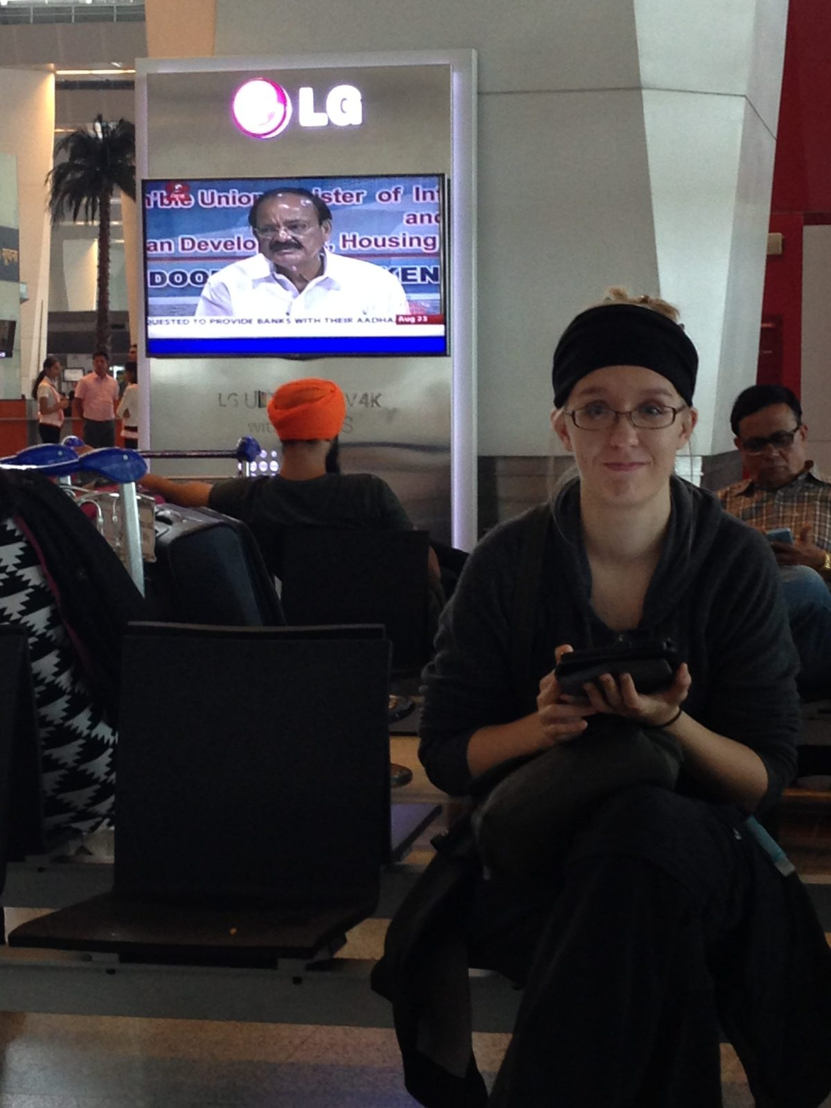 India Tourism: Pigeon at Indira Ghandi International Airport