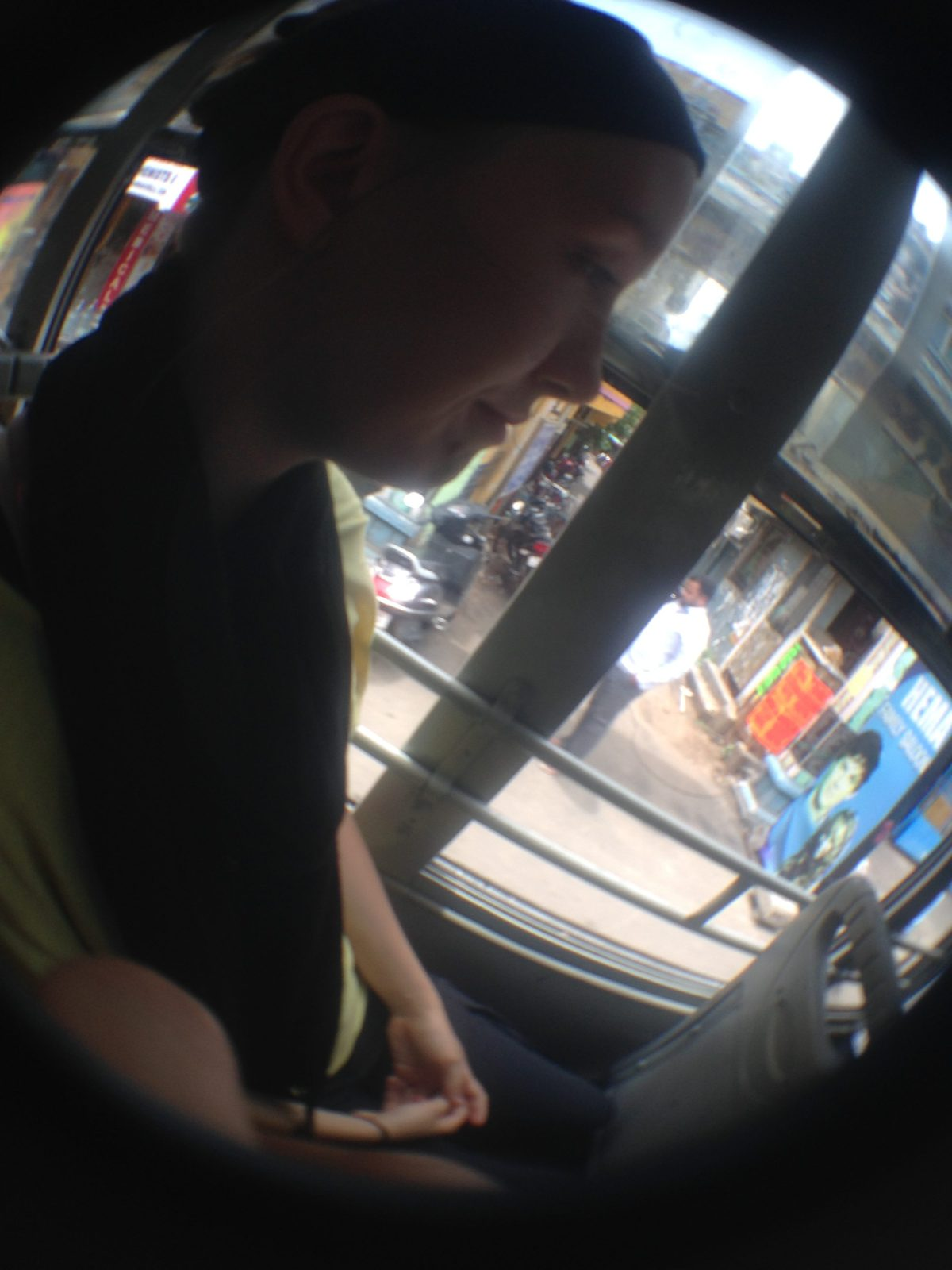 Chennai Tourism: View of India Traffic from the Front of the Bus Part III