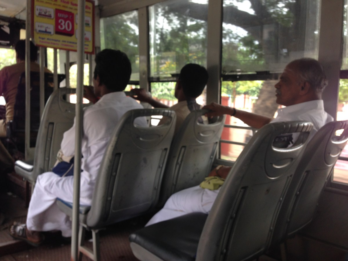 Chennai Tourism: John Sits on the Wrong Side of the Bus