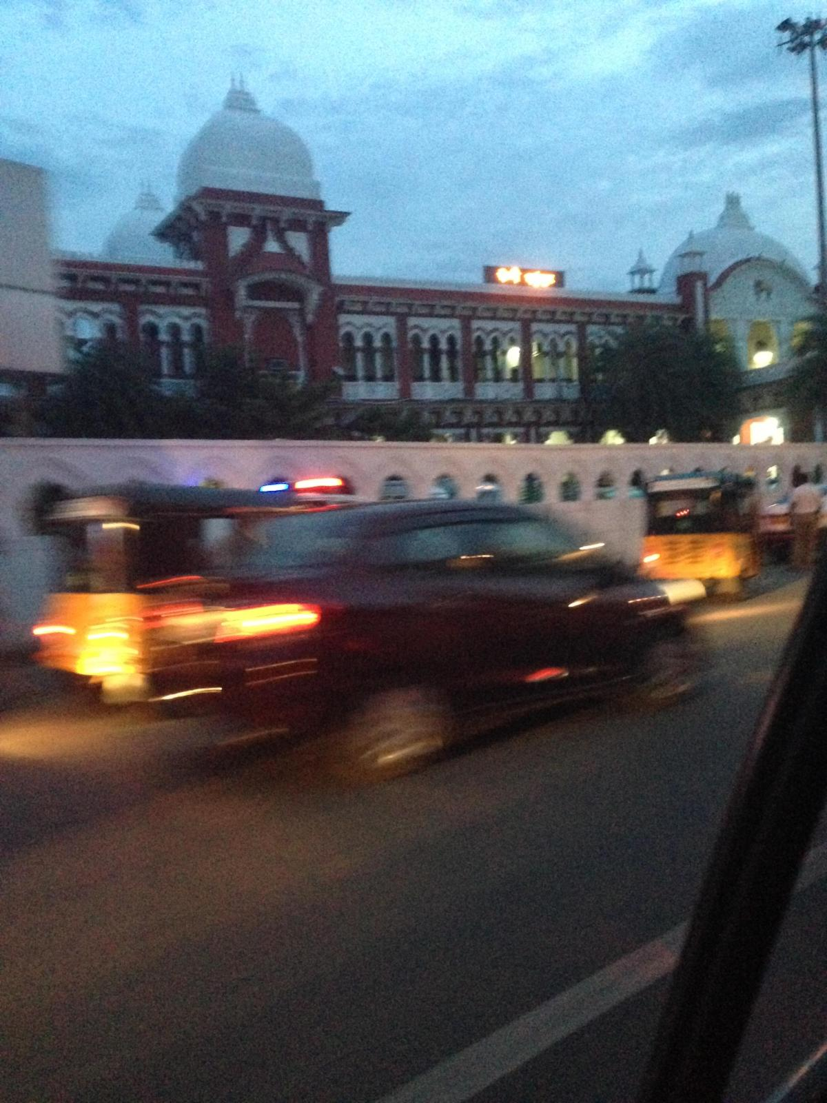 Chennai Tourism: View of India Traffic from the Front of the Bus Part II