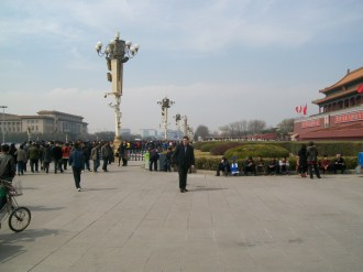 Yet another picture of the garden area next to Tiananmen Square.