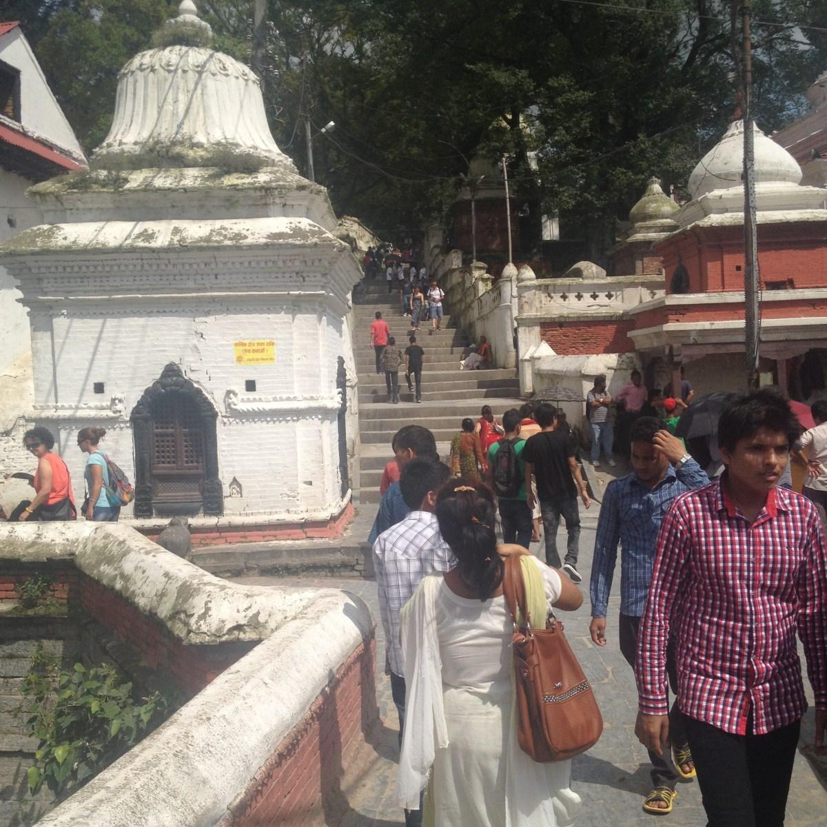 Kathmandu Tourism: The Stairs at Pashupatinath