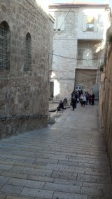 The actual walkway to the Church of the Holy Sepulchre.