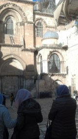 Our first look at the Church of the Holy Sepulchre.