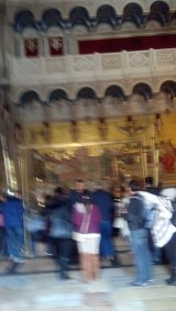 The first room in the Church of the Holy Sepulchre.