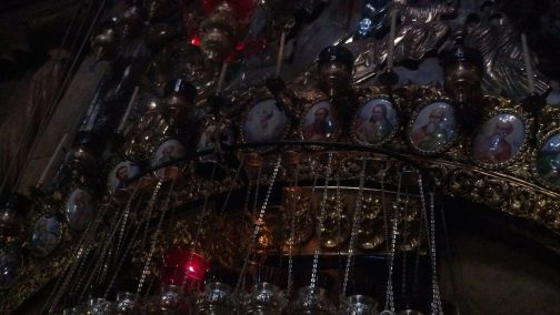 This was above the entrance to the Aedicule in the Church of the Holy Sepulchre.
