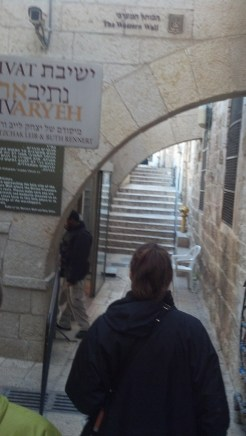 Jennifer leads the way to the Western Wall in Jerusalem's Old City.