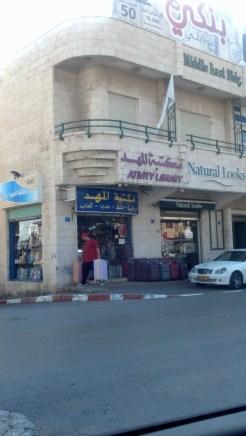 Driving in Bethlehem, Israel.