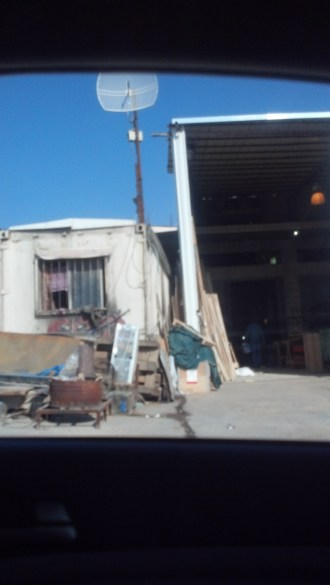 Driving into Jericho, Israel.