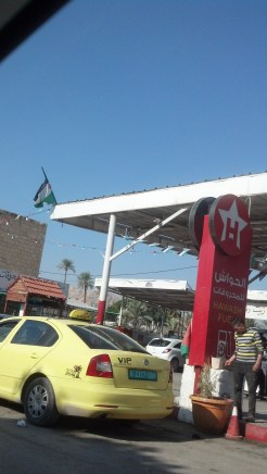 There were lots of Palestinian flags that we saw driving through the Palestinian Territories...