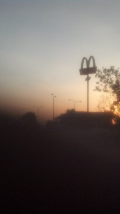 Always a McDonald's... Even 20 miles from the Gaza Strip.
