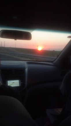 The sunset was GORGEOUS when we got to Be'er Sheva.