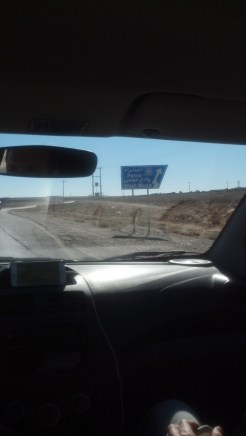 And finally, the sign to the road that leads into Wadi Musa.