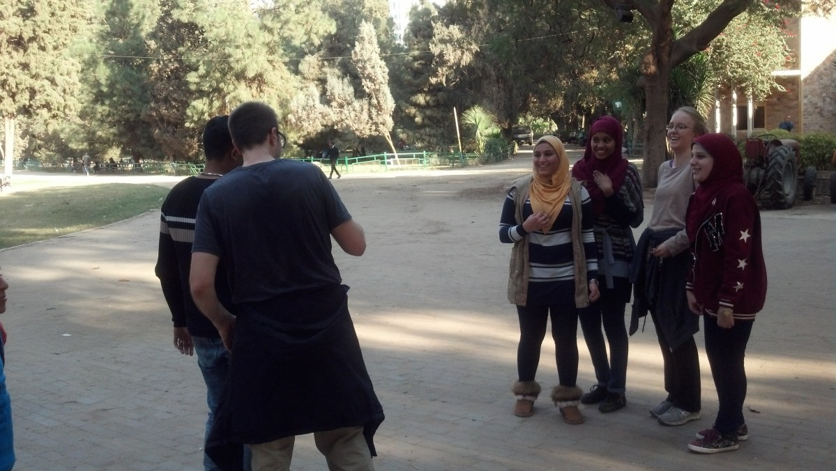 Visit Egypt: Muslim Girl Jogs with Us in Cairo