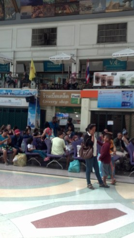 The Hualamphong Train Station in Bangkok wasn't nearly as crazy or chaotic as Indian train stations.