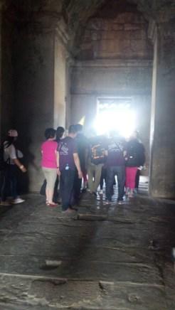 Tour groups at Angkor Wat in Siem Reap, Cambodia.