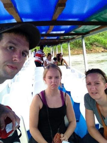 Another selfie on the river boat leading to Tortuguero.