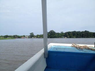 Looking back at Tortuguero.