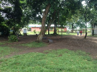A playground in Tortuguero. The humidity created a rust situation.