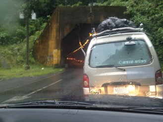 Driving in Costa Rica Tortuguero Monsoon