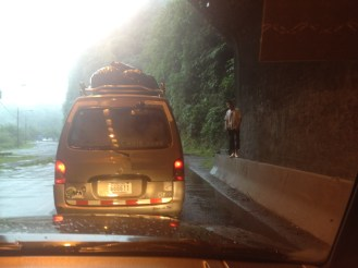 On our trip to Tortuguero, we also experienced a major traffic jam in which we were stuck for almost an hour in a tunnel.