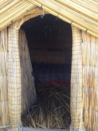 We explored some of the reed houses on Lake Titicaca.