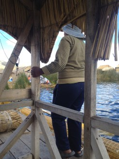 One of the drivers of our boat at Lake Titicaca.