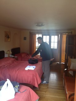 Our Ollantaytambo hotel room near the Ollantaytambo Ruins.