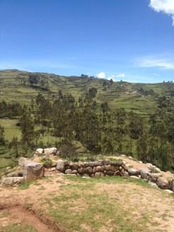 The Saksaywaman ruins in Peru.