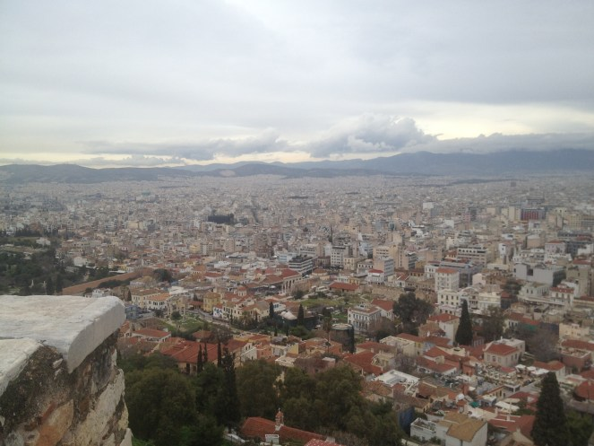 Athens doesn't have many skyscrapers; most the buildings lay pretty low.
