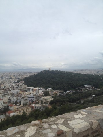 The view from below at the other ruins at the Acropolis was amazing, but it was even more incredible from the Parthenon.