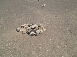 More rocks piled up at Chauchilla Cemetery in Nazca, Peru.