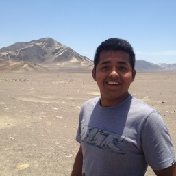 Raul Palomino of Nazca Trips at the Chauchilla Cemetery in Nazca.