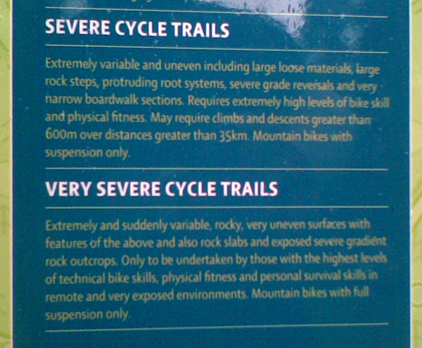 Opis stopni trudnosci, te dwa dotycza tych sciezek wlasnie / Description of sill/stuff level required for these trails