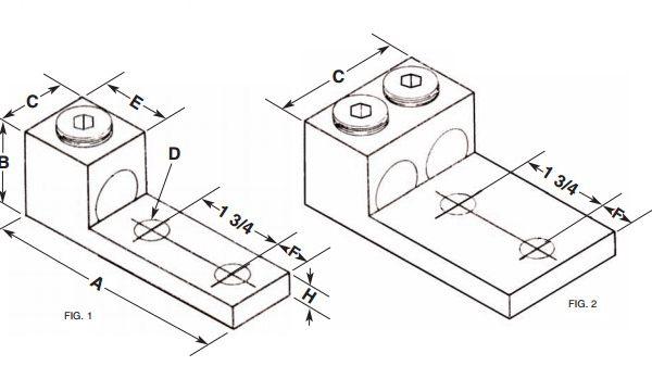 2-350L2 Panelboard Lug – Aluminum