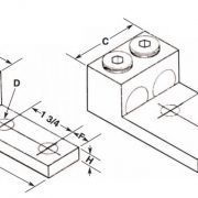 600L2 Panelboard Lug – Aluminum