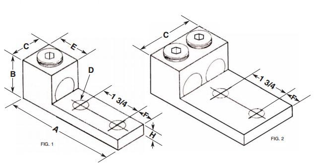 800L2 Panelboard Lug – Aluminum