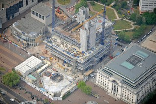 Library of Birmingham Aerial view 1 in May 11