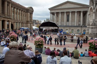 The Natural stage in Chamberlain Square