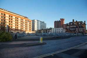 View of site (currently a car park) from south side of Sheepcote Street