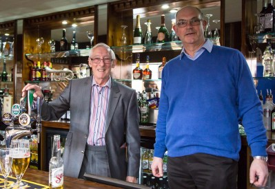 The proprietors..Earle Wightman (left) MD of Sherborne Wharf and Mike Dowse Assistant MD.
