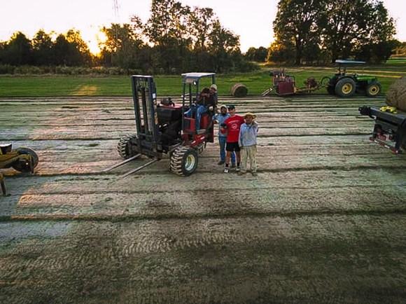 grass sod, tractor, farmers, Kentucky, grass sod
