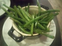 green beans and chorizo