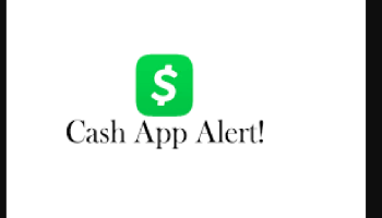 Cash App alert text