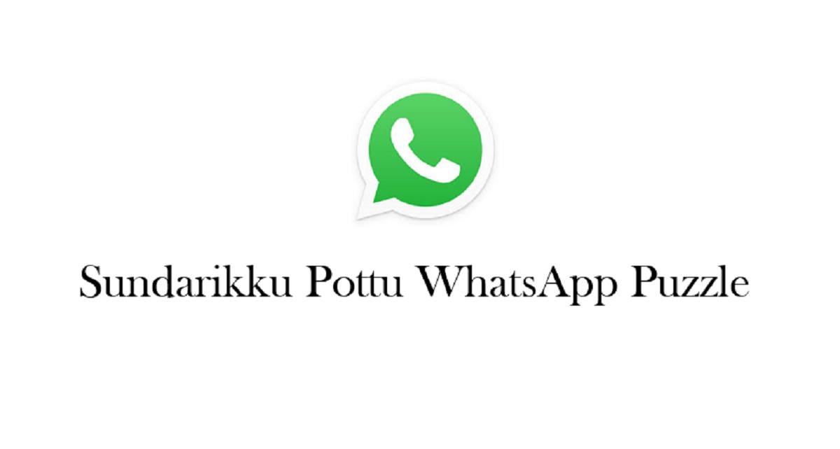 Sundarikku Pottu WhatsApp Puzzle