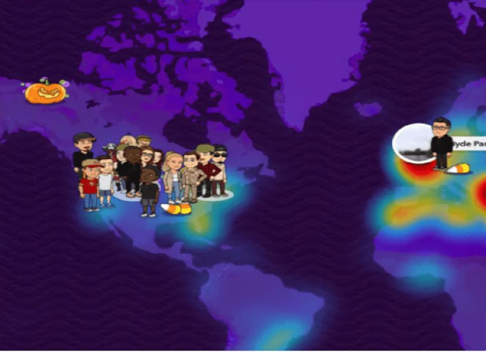 Image Of Snapchat Halloween Map 2020