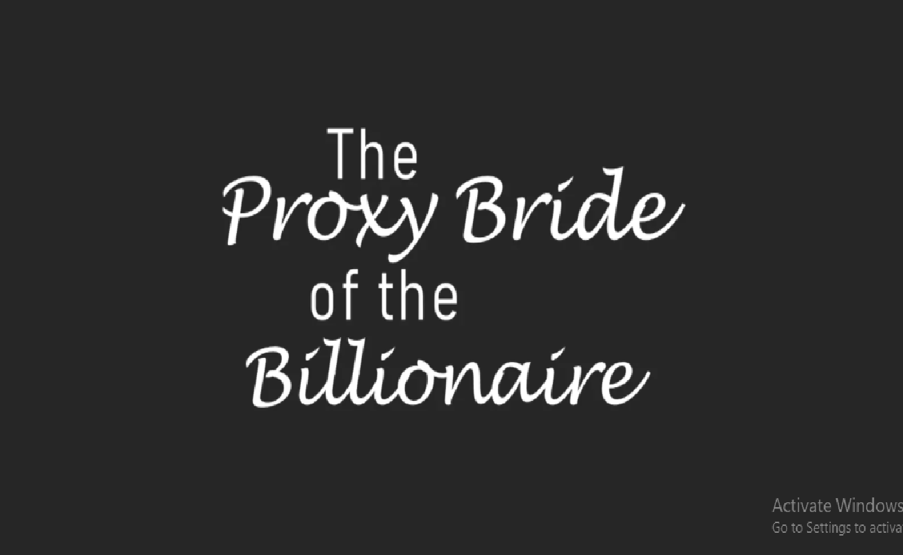 an image of Proxy Bride of the Billionaire