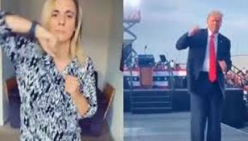 Trump tiktok dance
