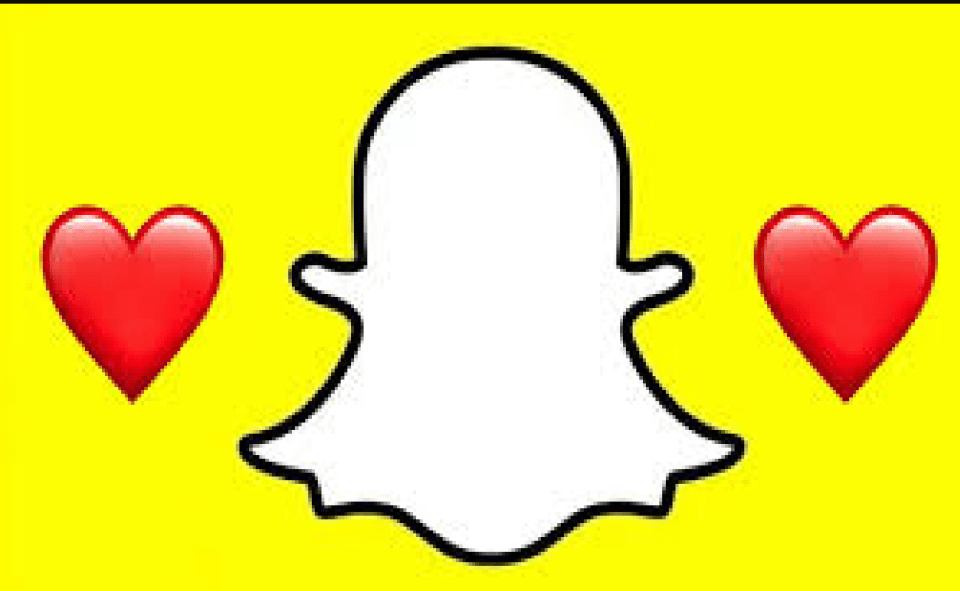 an image of red heart on snapchat